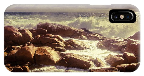 Crash iPhone X Case - Tranquil Ocean Views by Jorgo Photography - Wall Art Gallery
