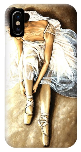 Ballerina iPhone Case - Tranquil Preparation by Richard Young