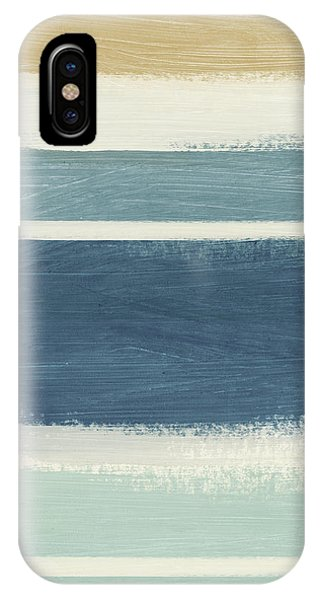 Stripe iPhone X Case - Tranquil Stripes- Art By Linda Woods by Linda Woods