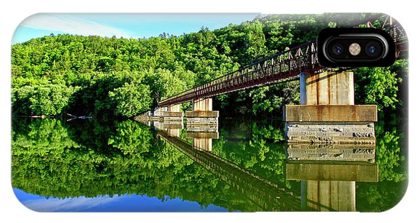 Tranquility At The James River Footbridge IPhone Case