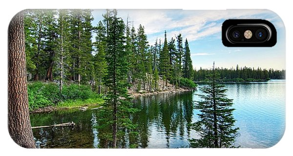 California iPhone Case - Tranquility - Twin Lakes In Mammoth Lakes California by Jamie Pham