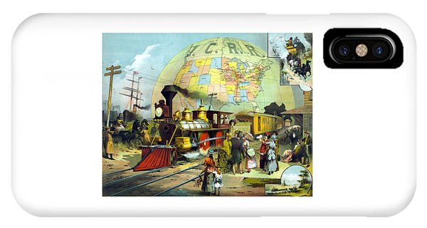 Train iPhone Case - Transcontinental Railroad by War Is Hell Store