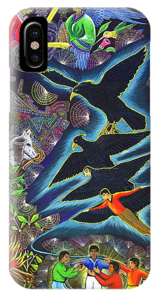 IPhone Case featuring the painting Transformacion Del Chaman En Aguila  by Pablo Amaringo