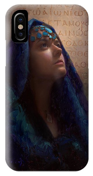 Transformation - Woman With Romans 12 2 Written In Original Greek  IPhone Case