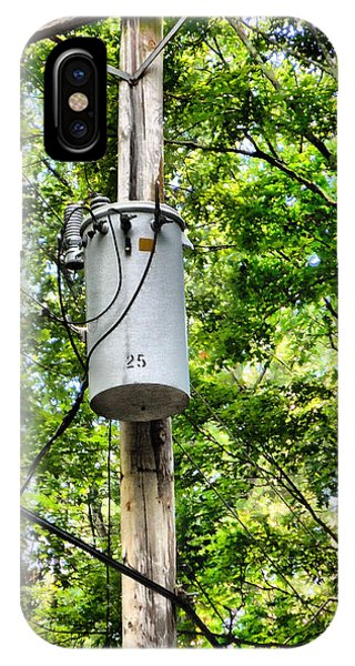Pylon iPhone Case - Transformer And Power Lines by Jeelan Clark