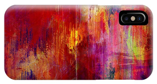 IPhone Case featuring the mixed media Transition - Abstract Art by Jaison Cianelli