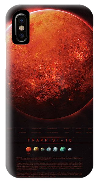 Planets iPhone Case - Trappist-1b by Guillem H Pongiluppi