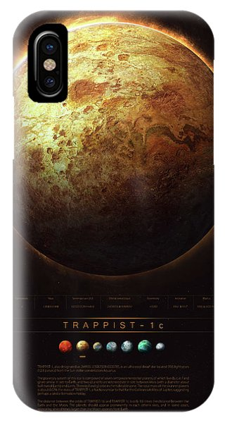Planet iPhone Case - Trappist-1c by Guillem H Pongiluppi