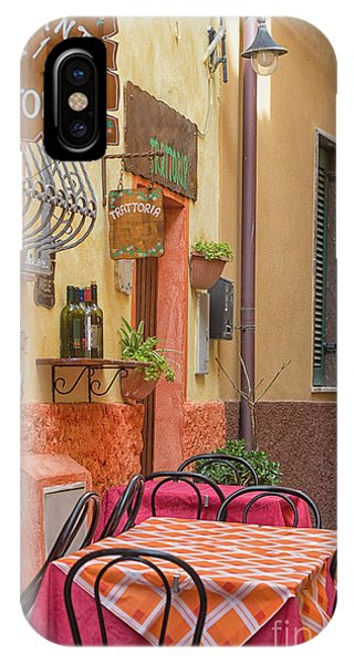 Trattoria With Outside Tables IPhone Case