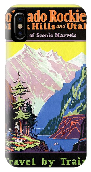 Travel By Train To Colorado Rockies - Vintage Poster Restored IPhone Case