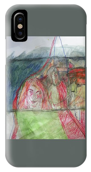 Travelers On The Train IPhone Case
