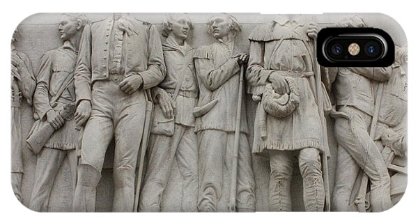 Travis And Crockett On Alamo Monument IPhone Case