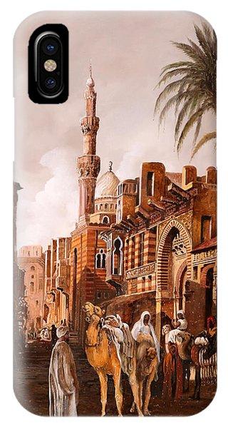 Camel iPhone Case - tre cammelli in Egitto by Guido Borelli