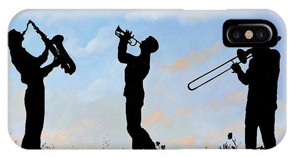 Trumpet iPhone Case - tre by Guido Borelli