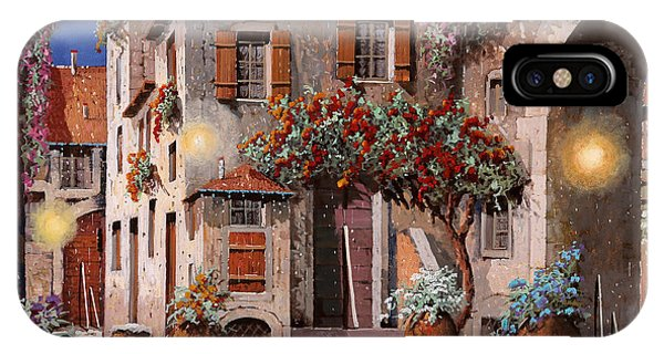 Arched iPhone Case - Tre Luci Al Crepuscolo by Guido Borelli