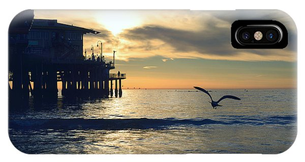 Seagull Pier Sunrise Seascape C1 IPhone Case
