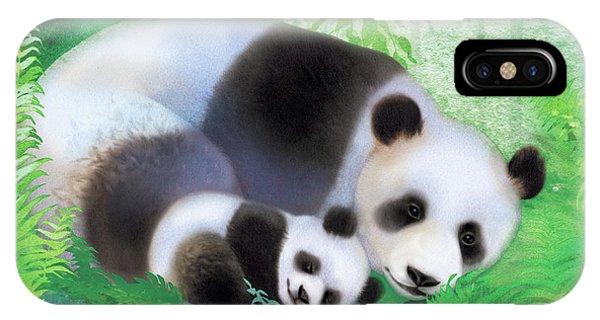 Treasure Garden Pandas IPhone Case