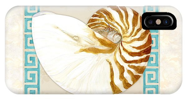 Treasures From The Sea - Tiger Nautilus Shell IPhone Case