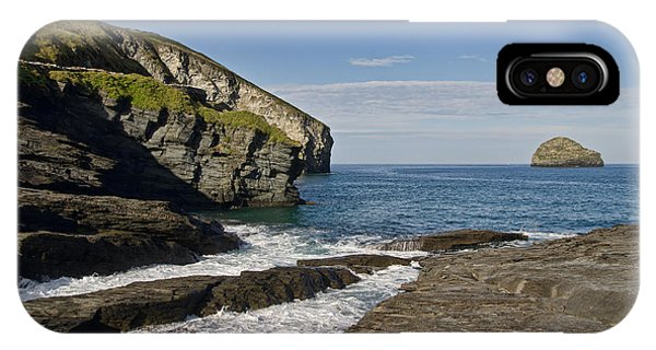 Trebarwith Strand In North East Cornwall IPhone Case