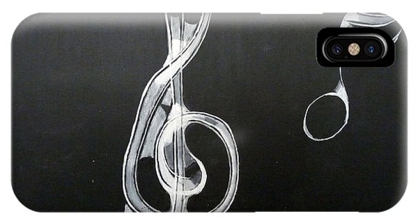 IPhone Case featuring the painting Treble Clef by Richard Le Page