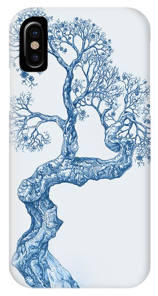 Tree 14 Blue 1 IPhone Case