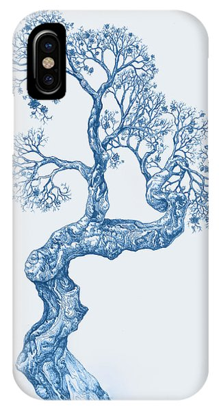 Tree 14 Blue 1 IPhone Case