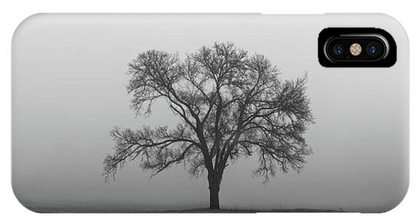 IPhone Case featuring the photograph Tree Alone In The Fog by Todd Aaron