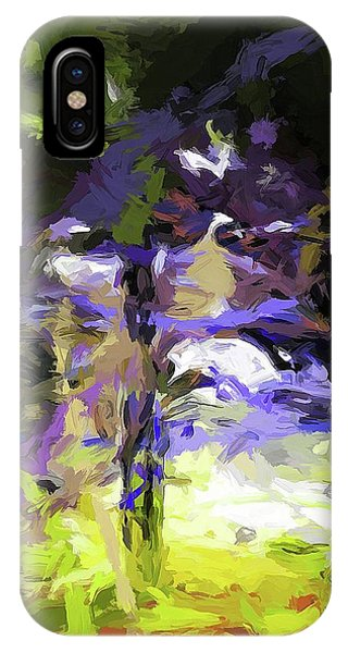 Tree Avenue Lavender Lilac Green IPhone Case