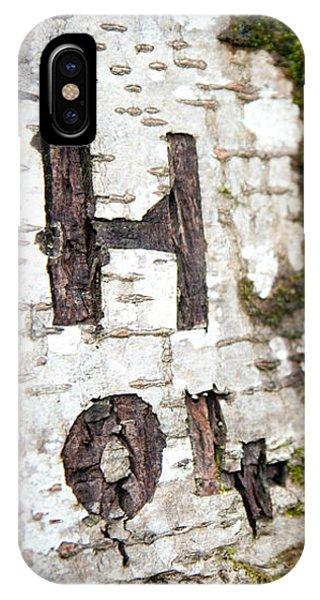 Tree Bark Graffiti - H 04 IPhone Case