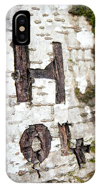 Tree Bark Graffiti - H 04 IPhone Case