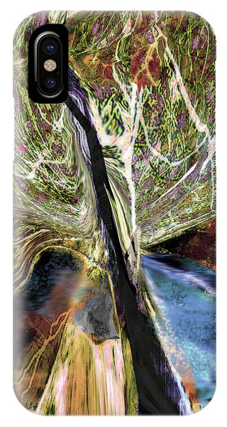 Tree Bent By Wind IPhone Case