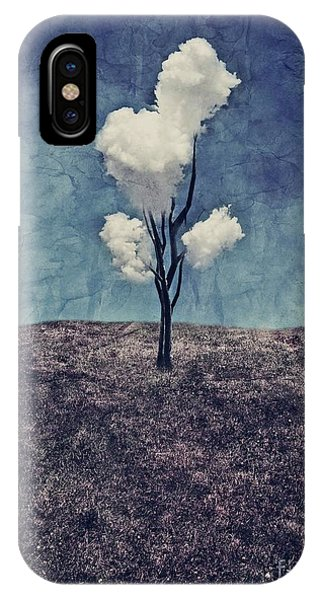 iPhone X Case - Tree Clouds 01d2 by Aimelle