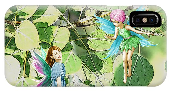 Tree Fairies Among The Quaking Aspen Leaves IPhone Case