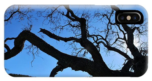Tree In Rural Hills - Silhouette View IPhone Case