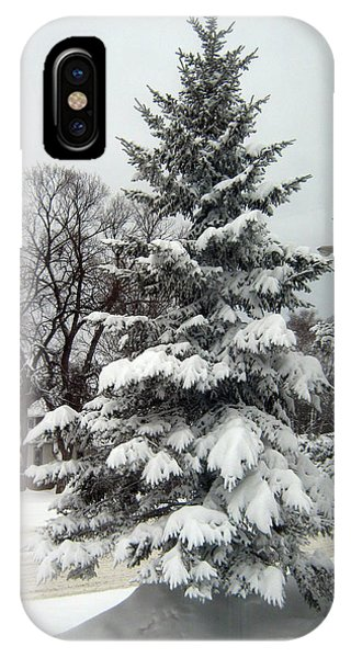 Tree In Snow IPhone Case
