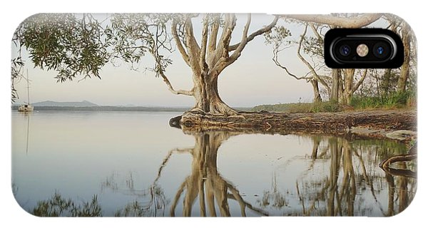 IPhone Case featuring the photograph Tree Love Down By The Lake by Keiran Lusk