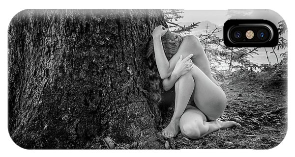 Tidal iPhone Case - Tree Maiden by Inge Johnsson