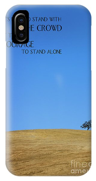 IPhone Case featuring the photograph Tree Of Courage by Steven Frame