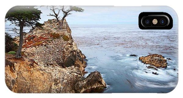 Water Ocean iPhone Case - Tree Of Dreams - Lone Cypress Tree At Pebble Beach In Monterey California by Jamie Pham
