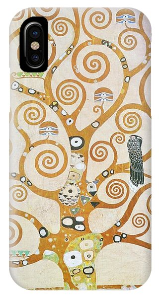 IPhone Case featuring the painting Tree Of Life Detail by Gustav Klimt