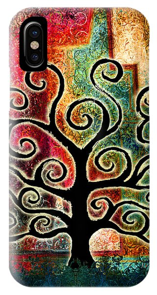 IPhone Case featuring the painting Tree Of Life by Jaison Cianelli