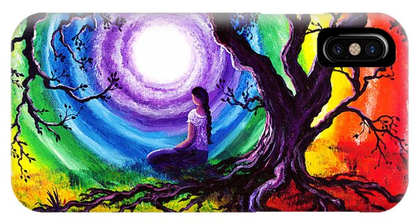Lgbt iPhone Case - Tree Of Life Meditation by Laura Iverson