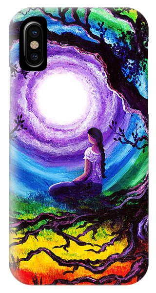 Rainbow iPhone Case - Tree Of Life Meditation by Laura Iverson