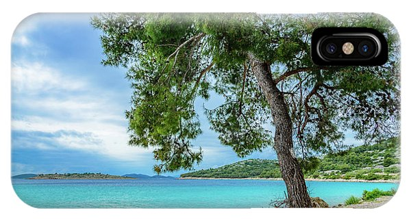 Tree On Northern Dalmatian Coast Beach, Croatia IPhone Case