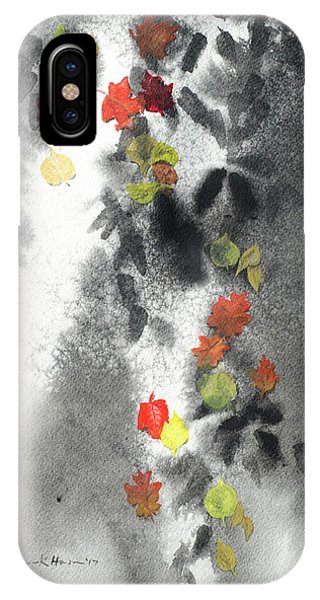 Tree Shadows And Fall Leaves IPhone Case