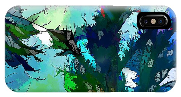 Tree Spirit Abstract Digital Painting IPhone Case