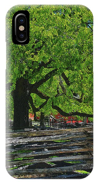 Tree With Colonial Fence IPhone Case