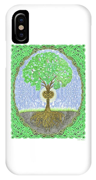 Tree With Heart And Sun IPhone Case