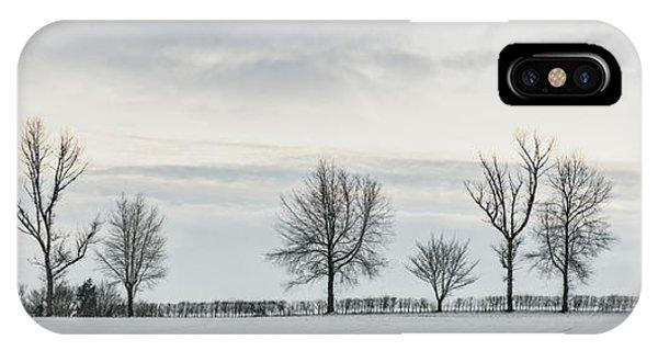 Treeline iPhone Case - Treeline In Snow, England by Amanda Elwell
