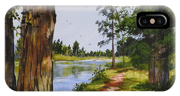 Trees Along The River IPhone Case